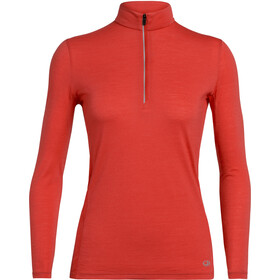 Icebreaker Amplify LS Half-Zip Top Women, fire